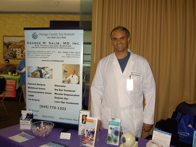Dr. Salib at the local community health fair
