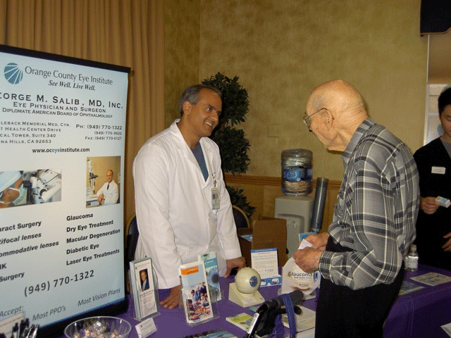 best eye doctor, Dr. George Salib at the local community health fair