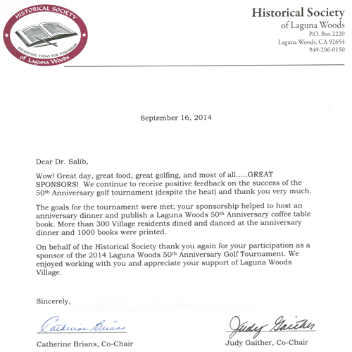 The Historical Society of Laguna Woods